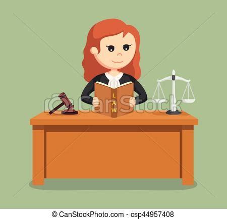 imagenes de justicia en caricatura juez mujer libro lectura ley clipart vectorial