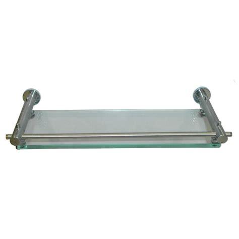 Single Glass Shelf by Buy Tantrum Single Glass Shelf Stainless Steel Finish