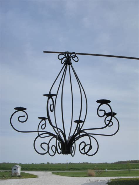 wrought iron outdoor chandelier wrought iron celian chandelier outdoors candles