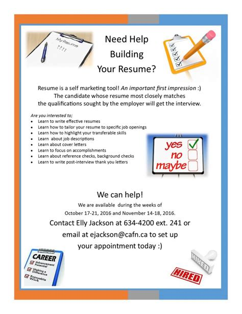 need help building your resume book your appointment now