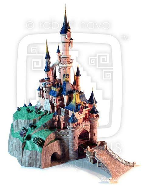 Sleeping Castle Papercraft - disneyland sleeping castle paper model free