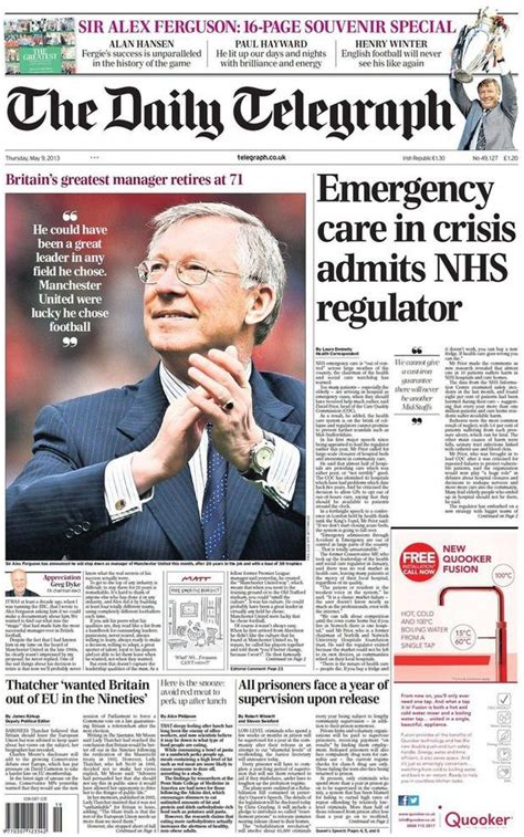 The Sunday Telegraph by The Daily Telegraph Media Sir Alex Ferguson Retires