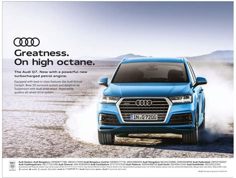Audi Q7 Ad by Audi Q7 Great Ness On High Octane Now With A Poweful New