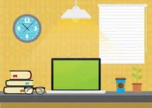 student desktop illustration vector free