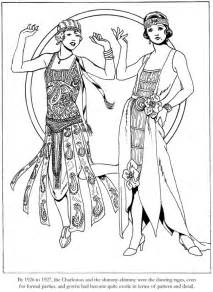 fashion coloring books dover publications fashions of the roaring twenties