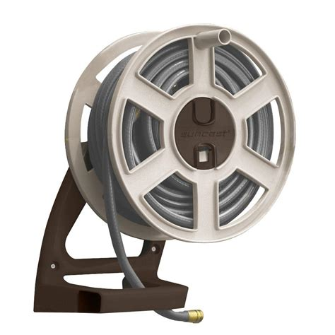 suncast 100 ft side tracker wall mount hose reel