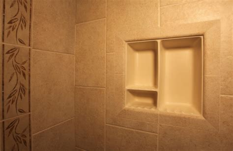 recessed bathroom tile niches traditional shower