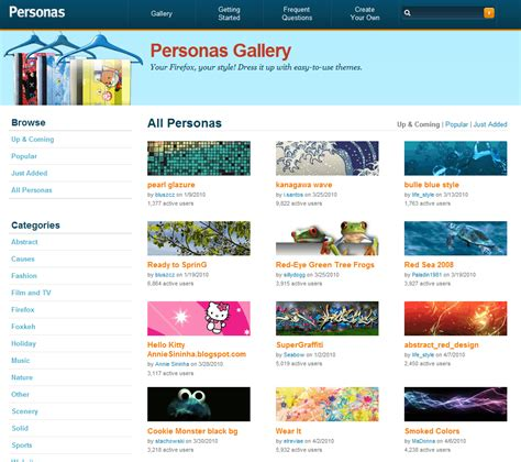 firefox themes personas the difference between firefox personas and themes