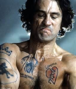 robert de niro tattoo robert de niro goes method once again for as bernie