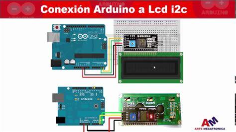 tutorial arduino i2c i2c pantalla lcd tutorial arduino conexiones youtube