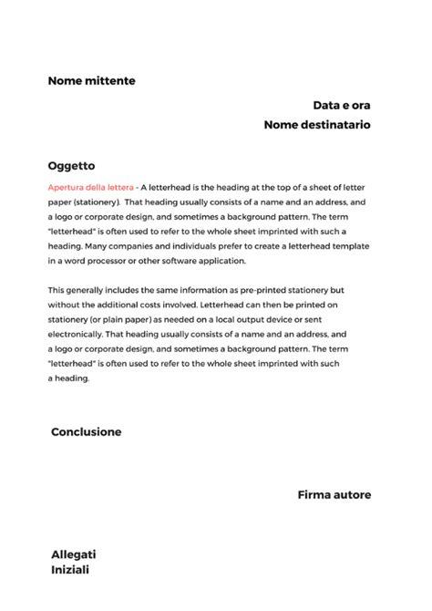lettere commerciali italiano esempi scrivere una lettera formale come si struttura una