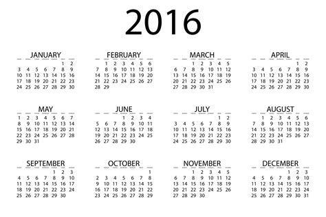 2016 Calendars To Print Adolphe Sax 2016 Printable Calendar
