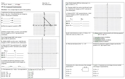 Integrated Math Worksheets by Worksheet Integrated Math 2 Worksheets Caytailoc Free
