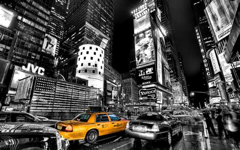 Search City Wall Decor B W Photography With Yellow Accents Exle New York City Taxi Times
