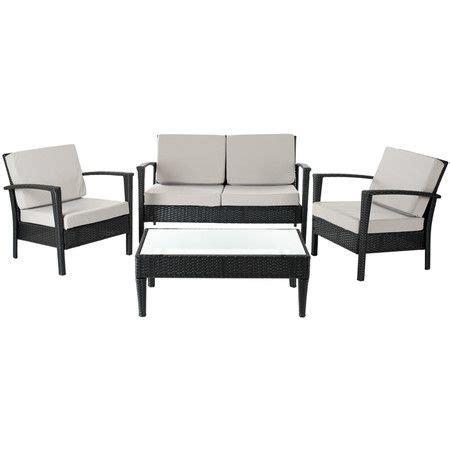 piece watson rattan seating group  black  joss
