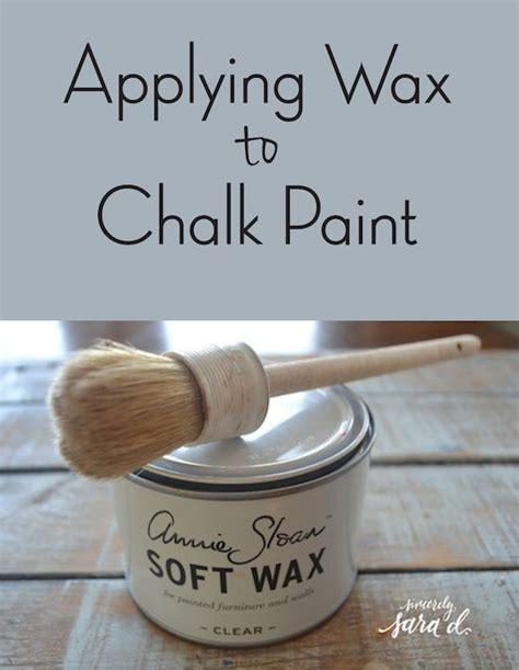 diy chalk paint wax tutorial for applying wax to chalk paint