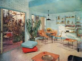 60s Interior Design by Midcentury Modern Retro Vintage 50s 60s Interior Design