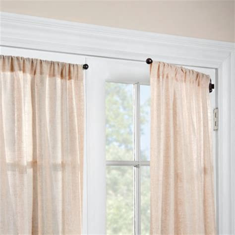 swinging curtain rods 1 2 quot swing arm curtain rod pair improvements catalog