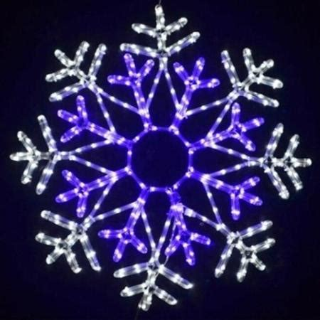 80cm led blue and white rope light snowflake christmas