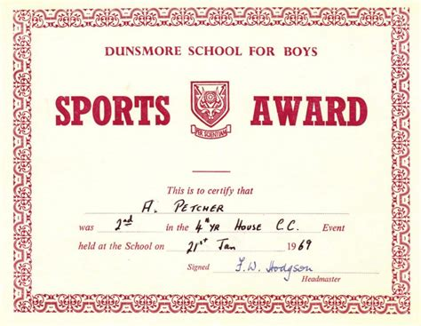 award certificates for sports certificate templates