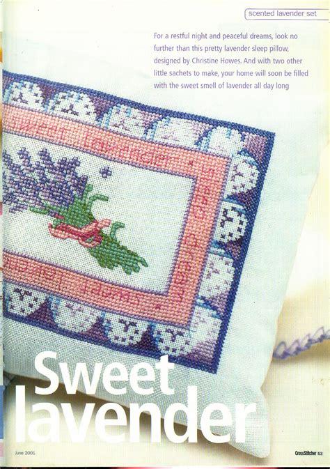 schemi punto croce fiori di lavanda cuscino con fiori di lavanda punto croce 2 magiedifilo