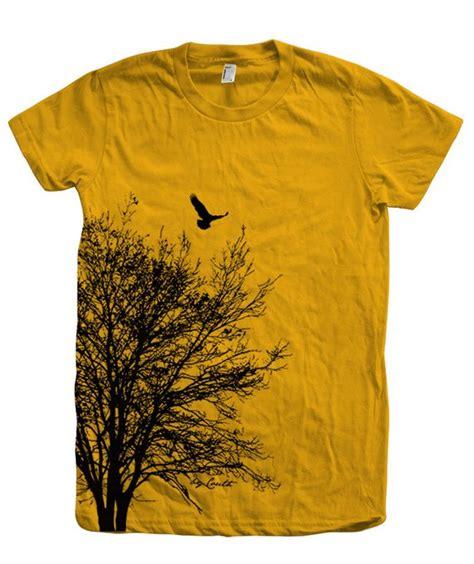 Tree Print Shirt tree t shirt crew neck screen print american