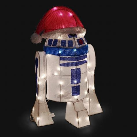 star wars homemade lawn wars r2 d2 lighted indoor outdoor lawn ornament