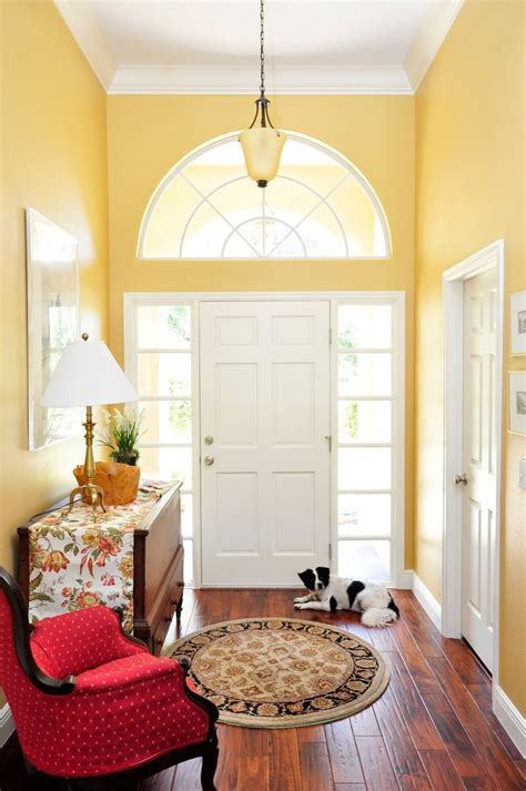 Yellow Foyer by Beautiful Bright Lemon Yellow Foyer Entrance With