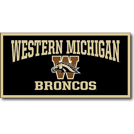 western michigan colors western michigan broncos 18 x36 banner