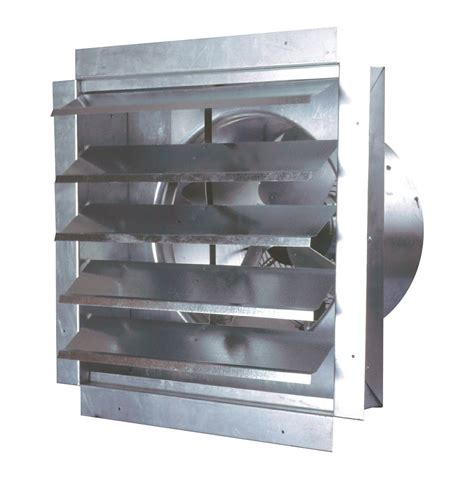 industrial exhaust fan with shutter maxxair 14 inch heavy duty exhaust fan