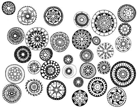 doodle circle of miriam badyrka is the doodler leaf pod doodles