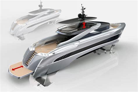 hydrofoil yacht design russian rocket skripnik design s new 37m foiling superyacht