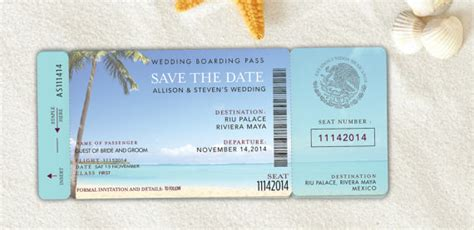 save the date boarding pass template boarding pass save the date destination wedding