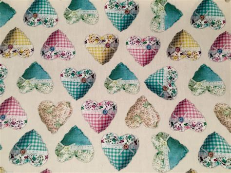 Upholstery Fabric Retro Sweet Heart Fabric Material Curtain Upholstery Cotton