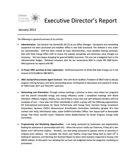 Sle Of Justification Report In Memo Format Reportthenews631 Web Fc2 Com Executive Director Review Template