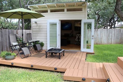 apartments with backyards s small and smart quot world shedquarters quot backyard office shed apartment therapy