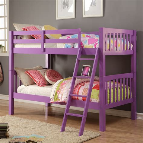 purple bunk bed purple kids beds wayfair grapevine twin bunk bed loversiq