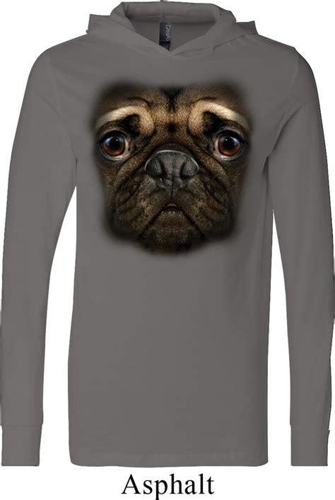 pug sweatshirts mens pug shirt big pug lightweight hoodie big pug mens shirts