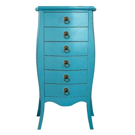 blue patterned chest of drawers narrow chest of drawers from isme bright cheerful and