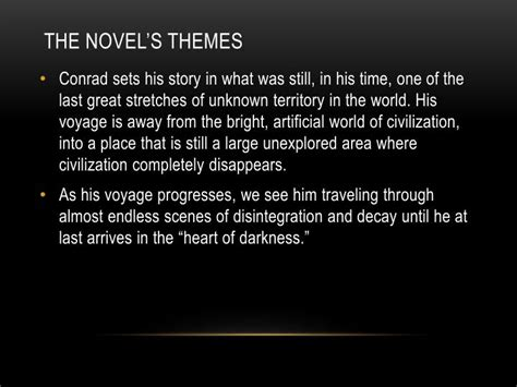 themes of heart of darkness ppt ppt heart of darkness by joseph conrad powerpoint
