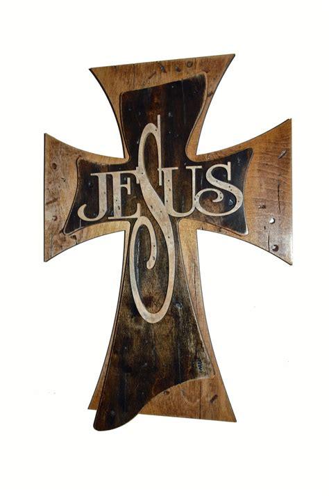 Birch Wall Mural jesus cross distressed wooden decorative wall crosses 15