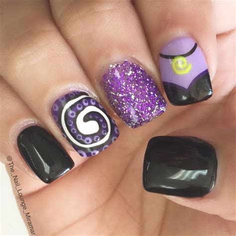 disney pattern nails disney s ursula nail art design nail art designs i like
