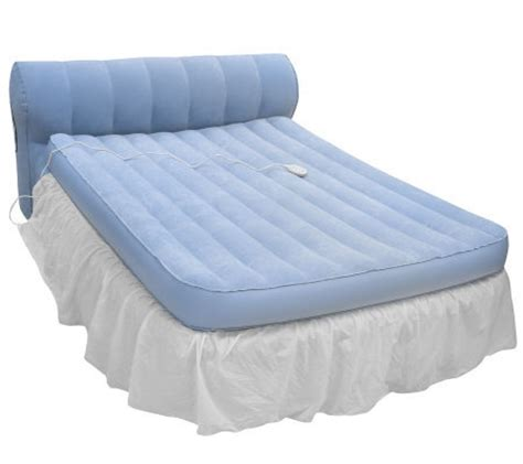 qvc beds aerobed queen rasied bed with headboard and dust ruffle