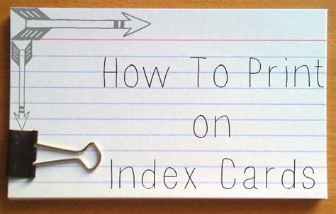 how to make index cards use your printer to print on index cards great for
