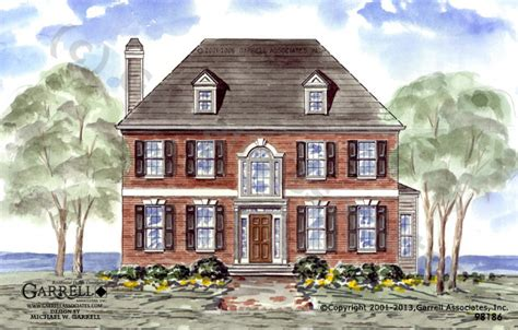 williamsburg style house plans dunwoody house plan house plans by garrell associates inc