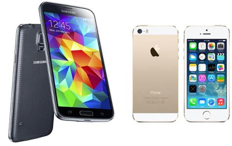 android vs iphone review galaxy s5 vs iphone 5s smartphone comparison review review pc advisor