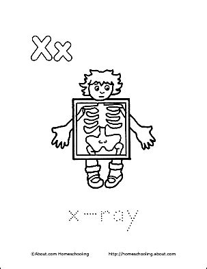printable x rays letter x coloring book free printable pages
