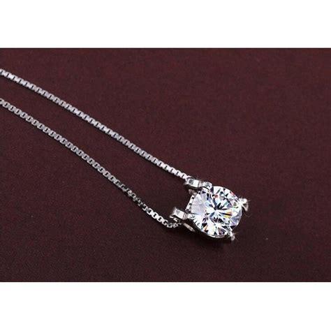 Kalung Wanita White clavicle pendant white rodhium 925 sterling silver kalung wanita white jakartanotebook