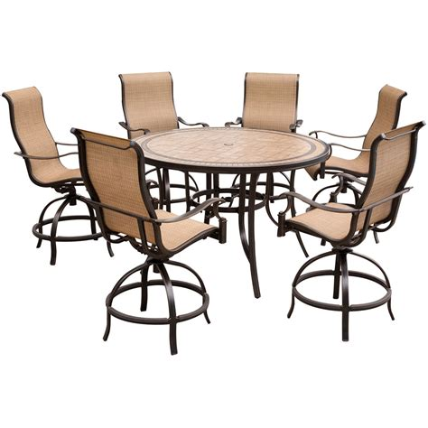 hanover monaco 7 high dining set with 6 contoured