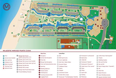 layout of mirage hotel punta cana airport layout map best image high definition